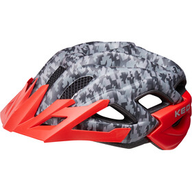 KED Status Casco Bambino, camouflage anthracite/red